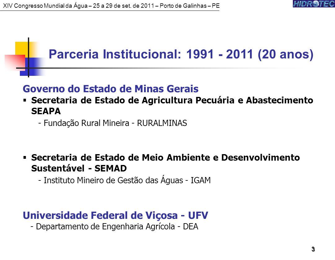 Parceria Institucional: 1991 - 2011 (20 anos)