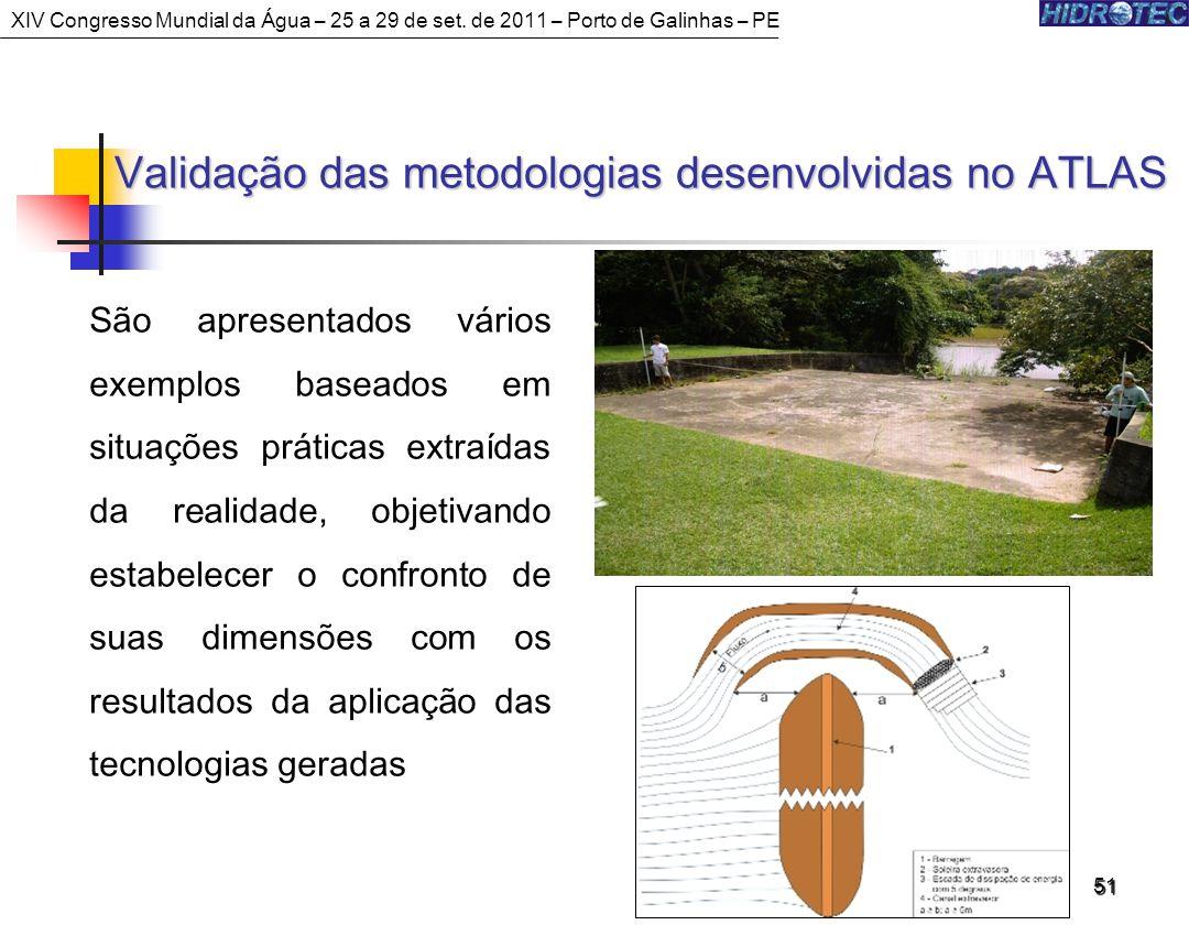 Validação das metodologias desenvolvidas no ATLAS