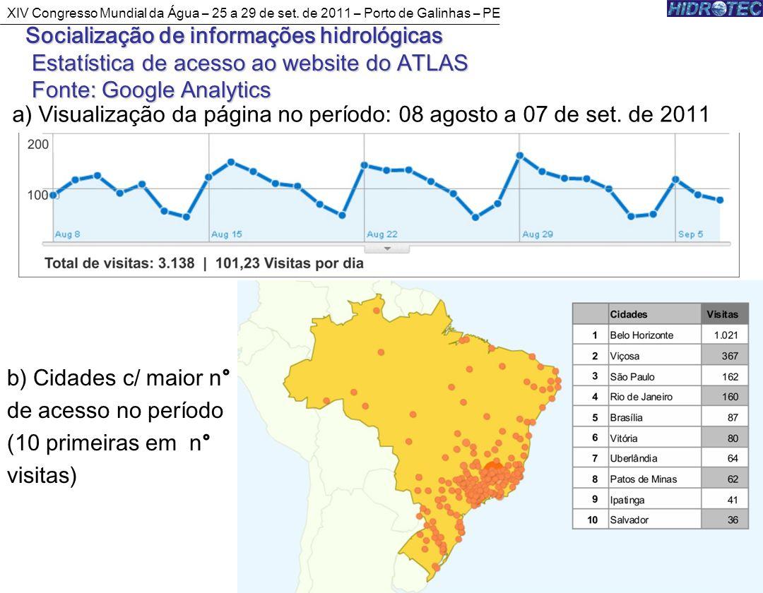a) Visualização da página no período: 08 agosto a 07 de set. de 2011