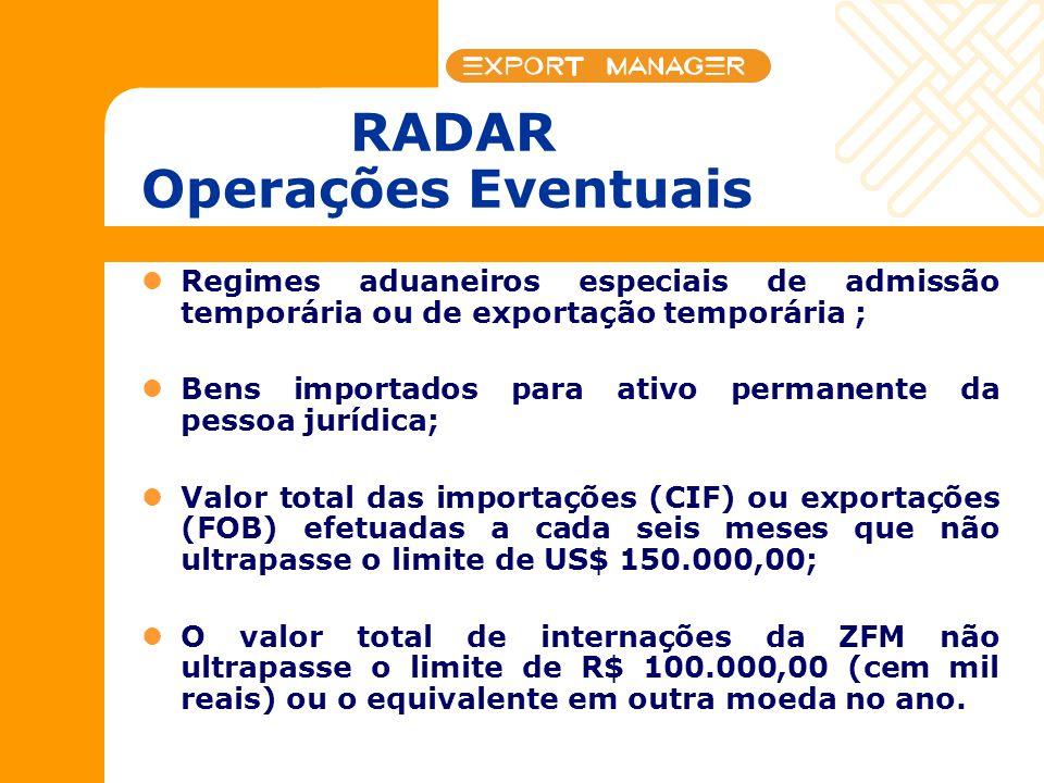 RADAR Operações Eventuais