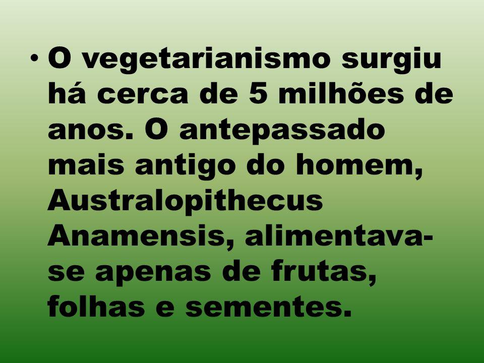 O vegetarianismo surgiu há cerca de 5 milhões de anos