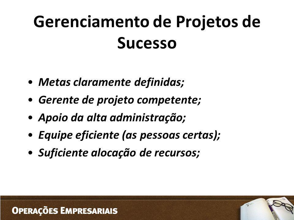 Gerenciamento de Projetos de Sucesso