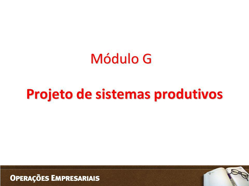Projeto de sistemas produtivos