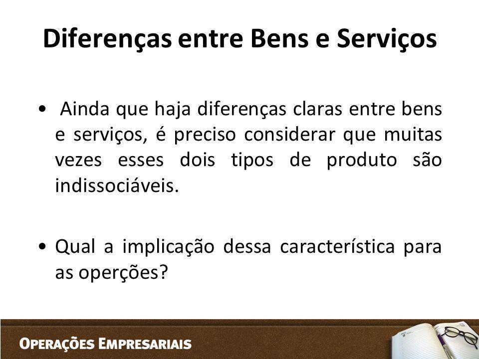Diferenças entre Bens e Serviços