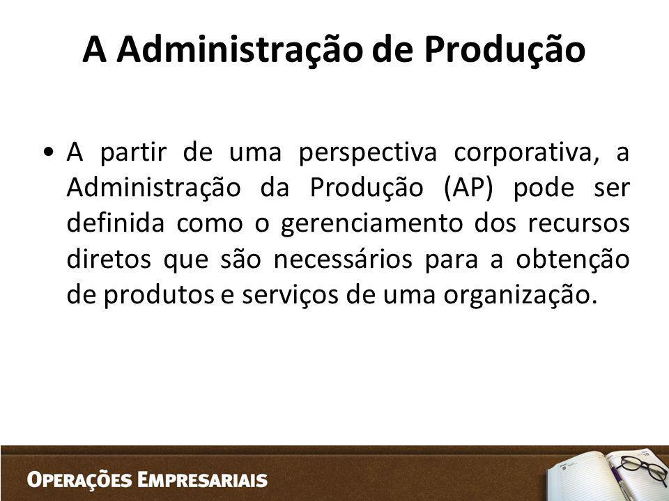 A Administração de Produção