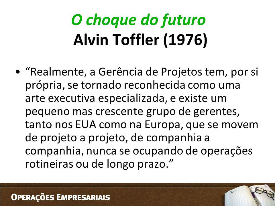 O choque do futuro Alvin Toffler (1976)