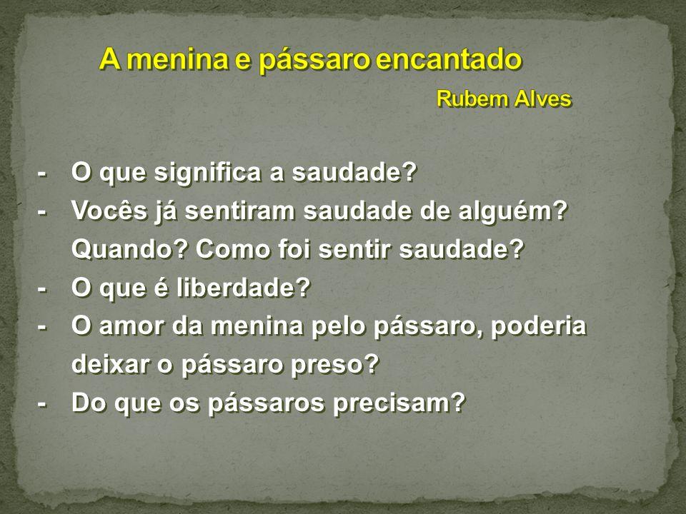 A menina e pássaro encantado Rubem Alves