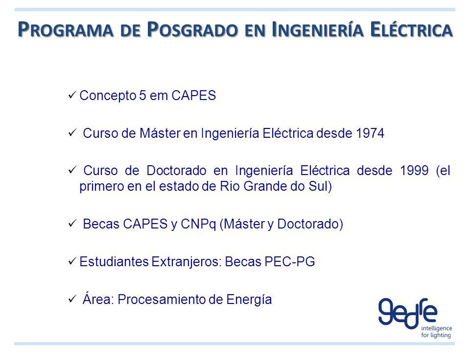 Programa de Posgrado en Ingeniería Eléctrica