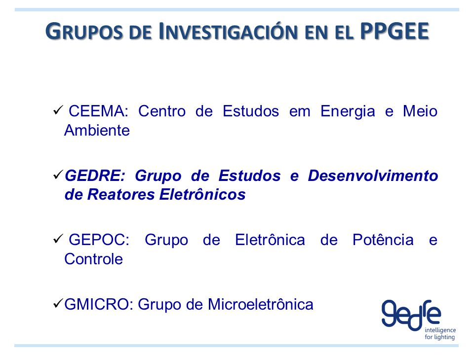 Grupos de Investigación en el PPGEE