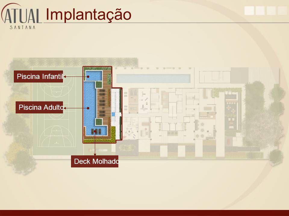 Implantação Piscina Infantil Piscina Adulto Deck Molhado