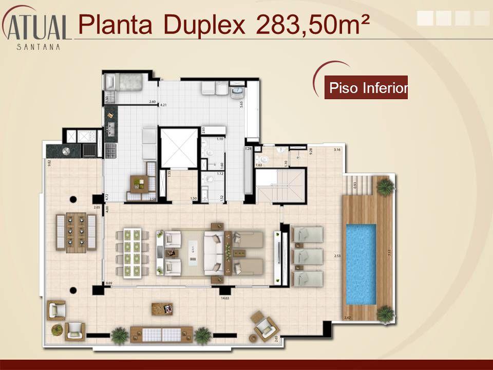 Planta Duplex 283,50m² Piso Inferior