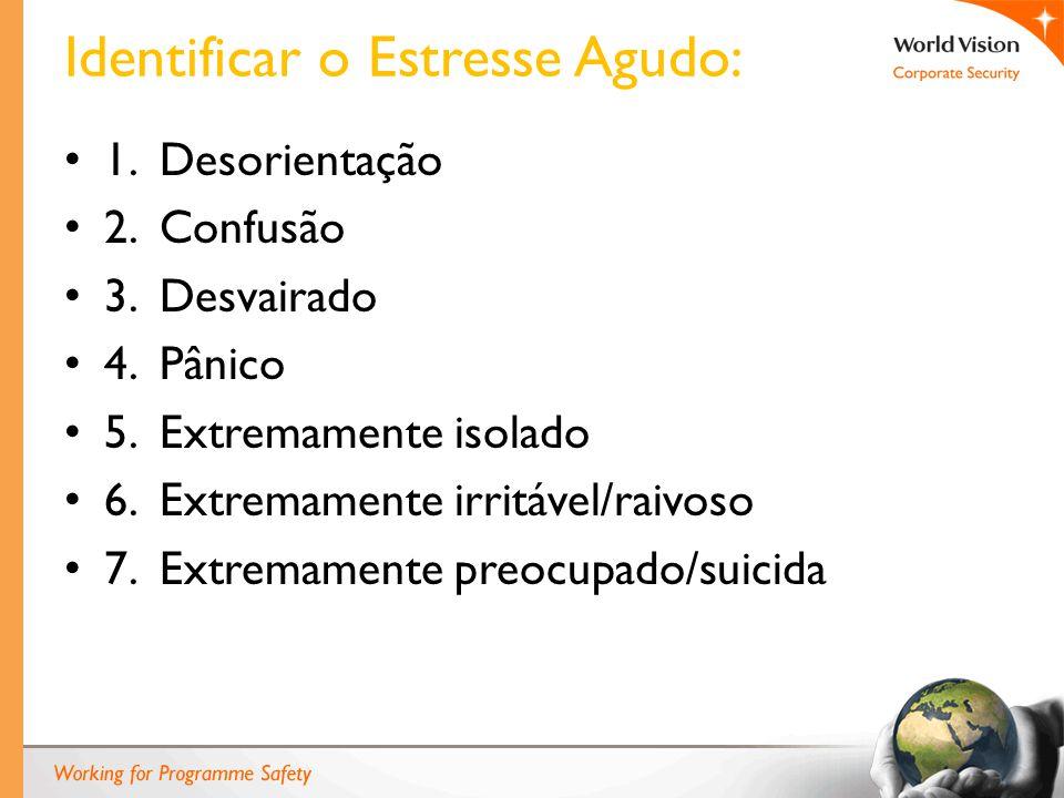 Identificar o Estresse Agudo: