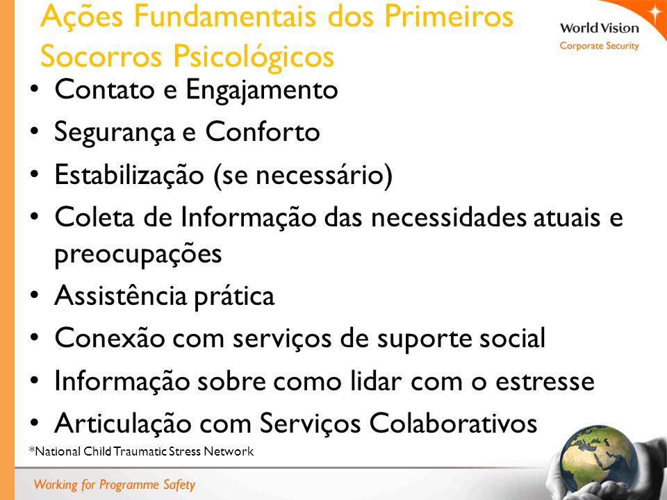 Ações Fundamentais dos Primeiros Socorros Psicológicos