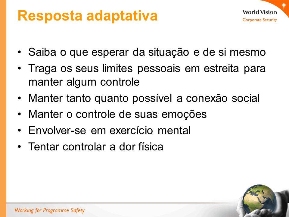 Resposta adaptativa Saiba o que esperar da situação e de si mesmo