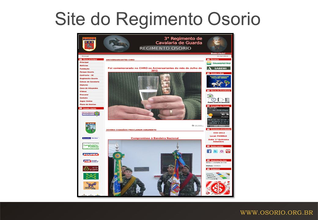 Site do Regimento Osorio