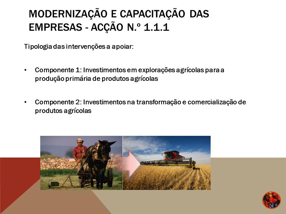 Modernização e Capacitação das Empresas - Acção n.º 1.1.1