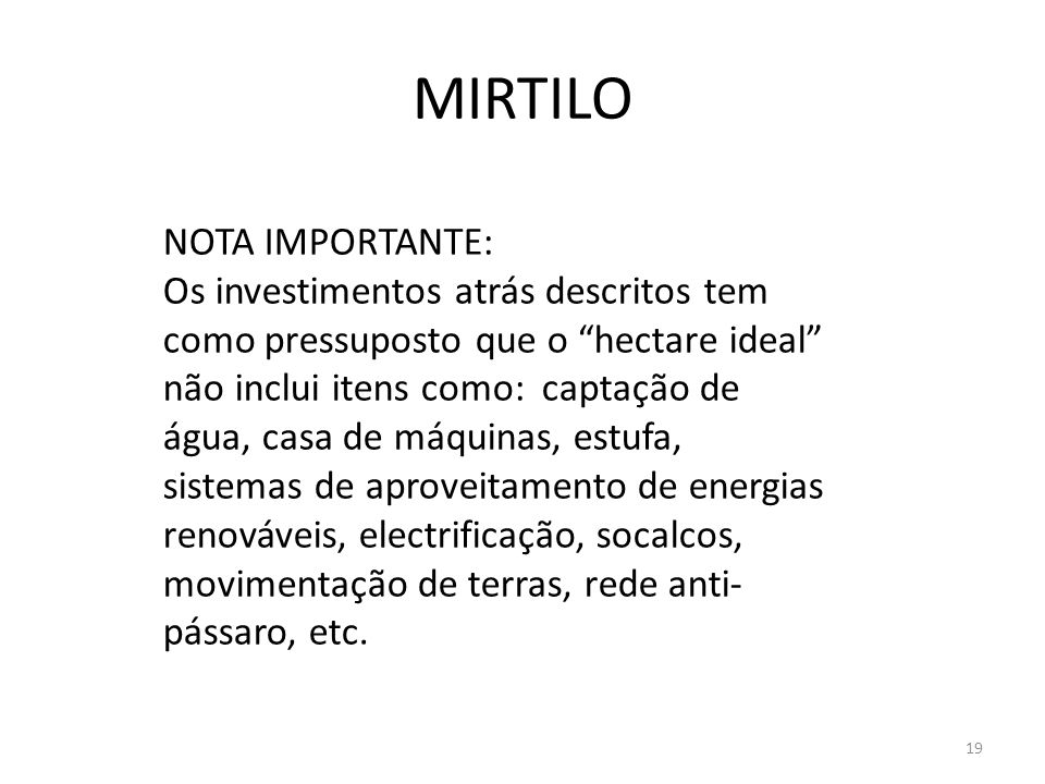 MIRTILO NOTA IMPORTANTE: