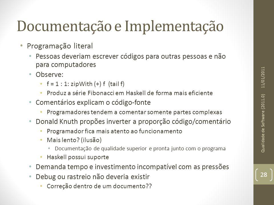 Documentação e Implementação