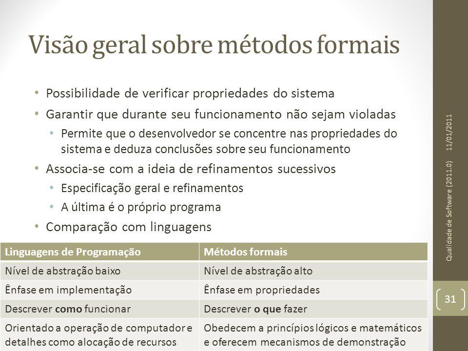Visão geral sobre métodos formais