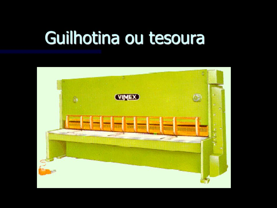 Guilhotina ou tesoura