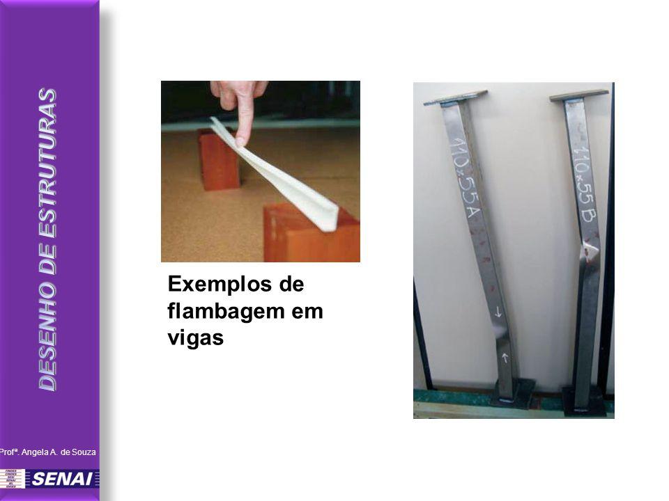 Exemplos de flambagem em vigas