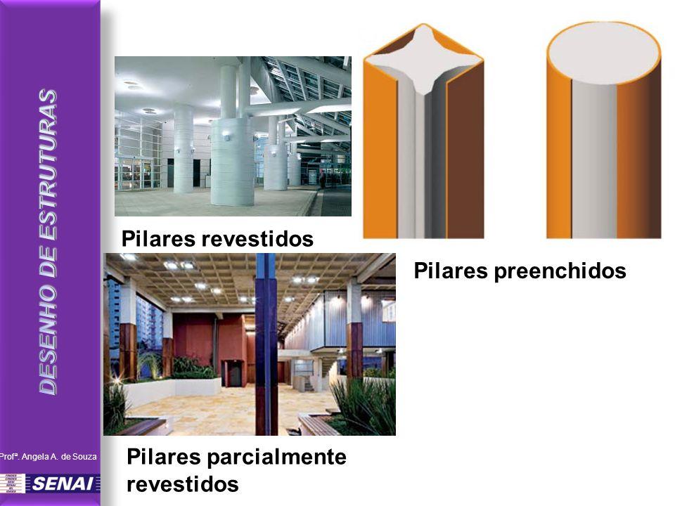 Pilares parcialmente revestidos