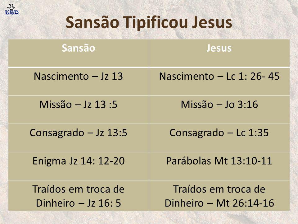 Sansão Tipificou Jesus