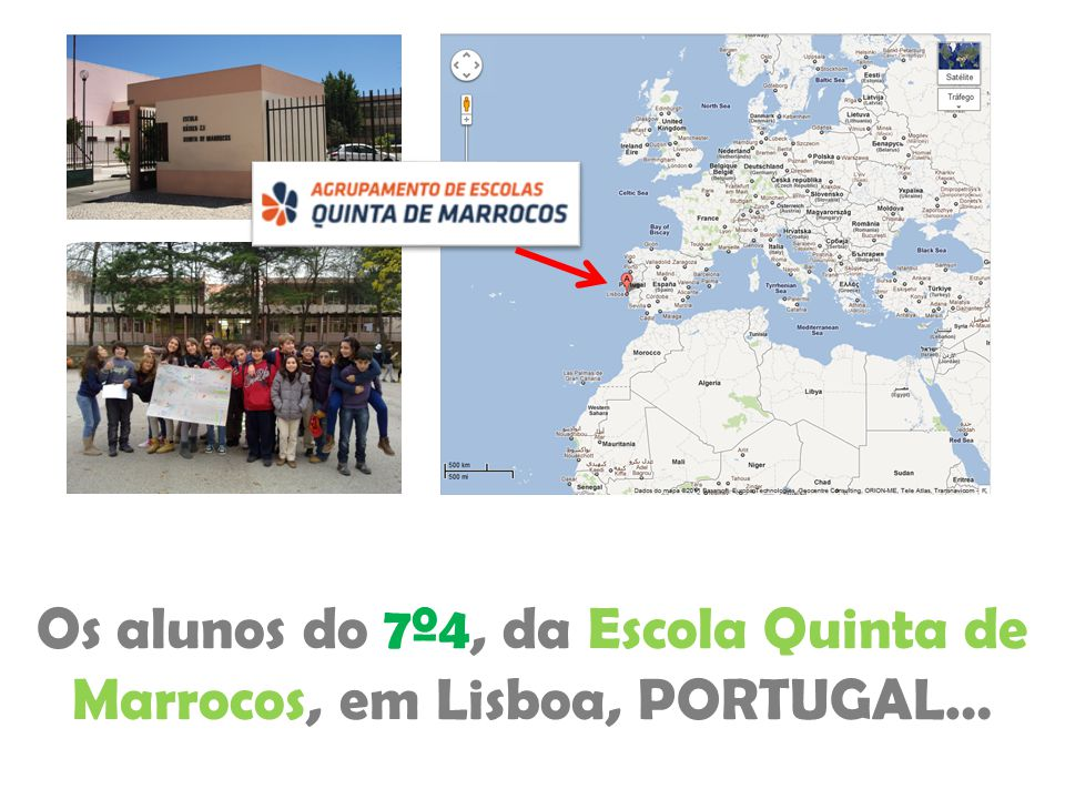 Os alunos do 7º4, da Escola Quinta de Marrocos, em Lisboa, PORTUGAL…