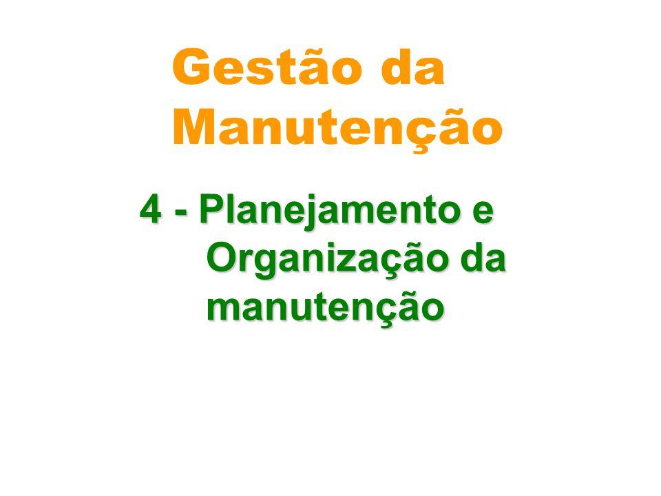 4 - Planejamento e Organização da manutenção