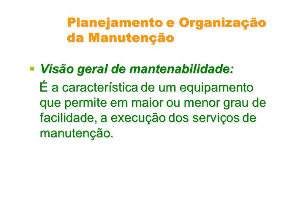 Planejamento e Organização da Manutenção