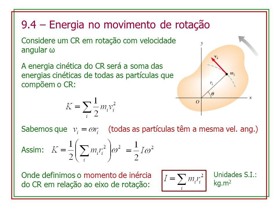 9.4 – Energia no movimento de rotação