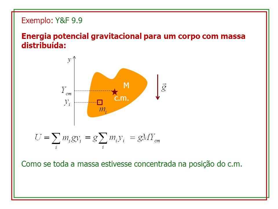 Energia potencial gravitacional para um corpo com massa distribuída: