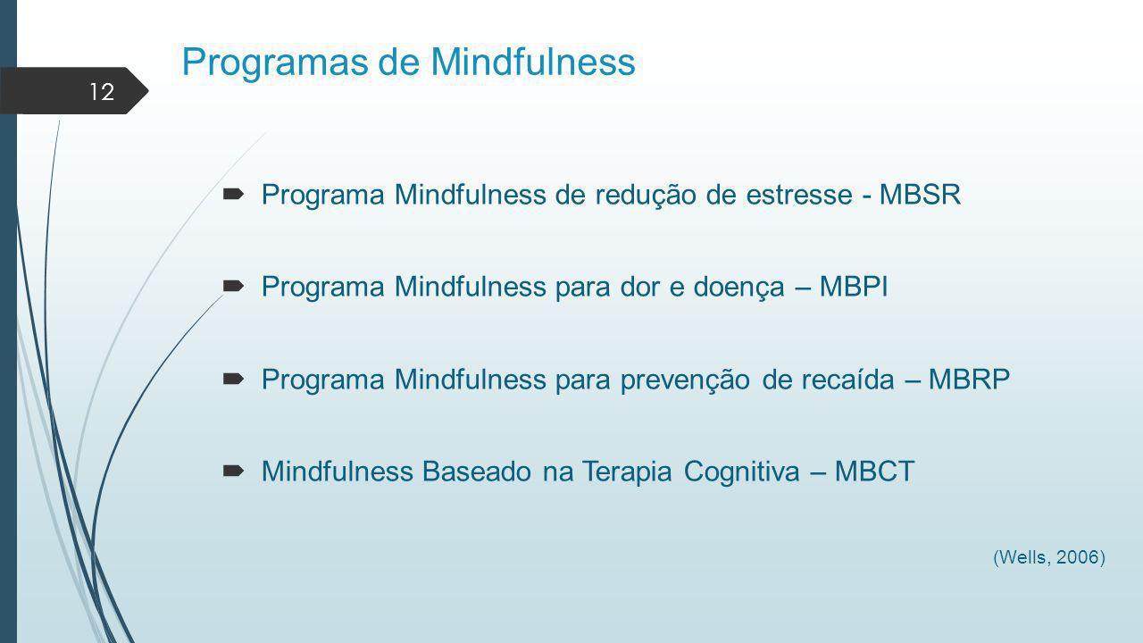 Programas de Mindfulness