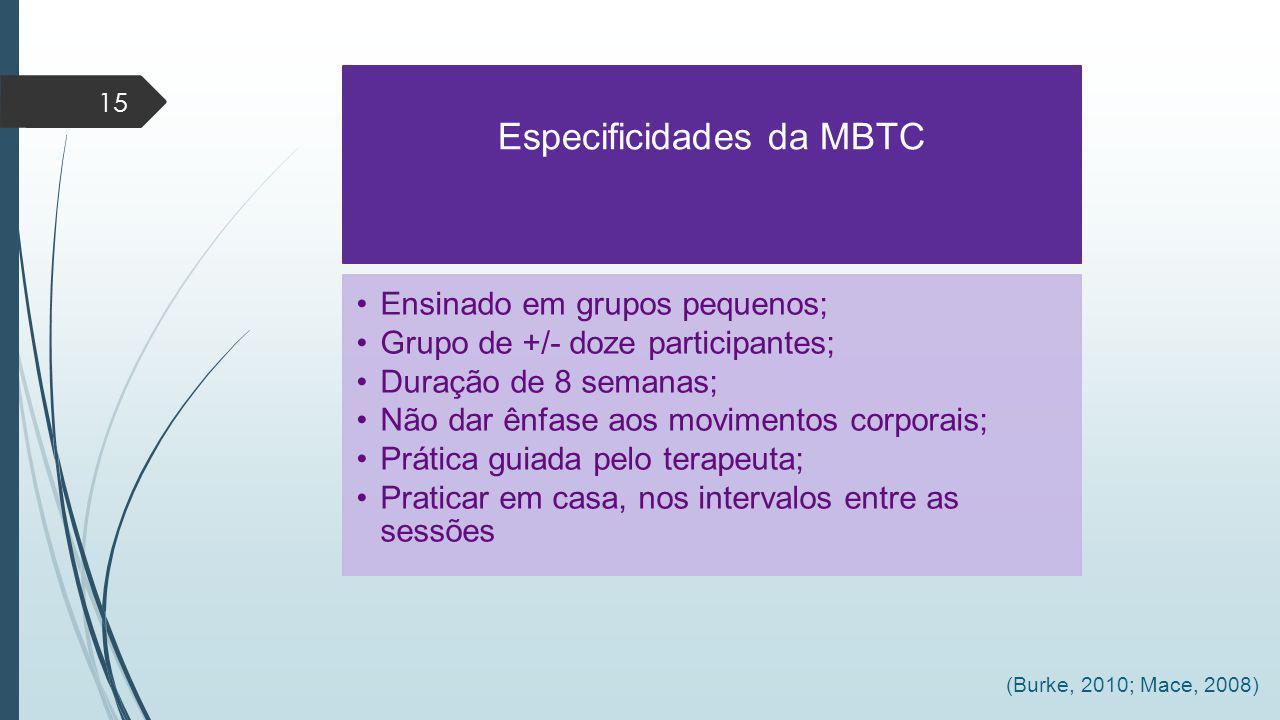 Especificidades da MBTC