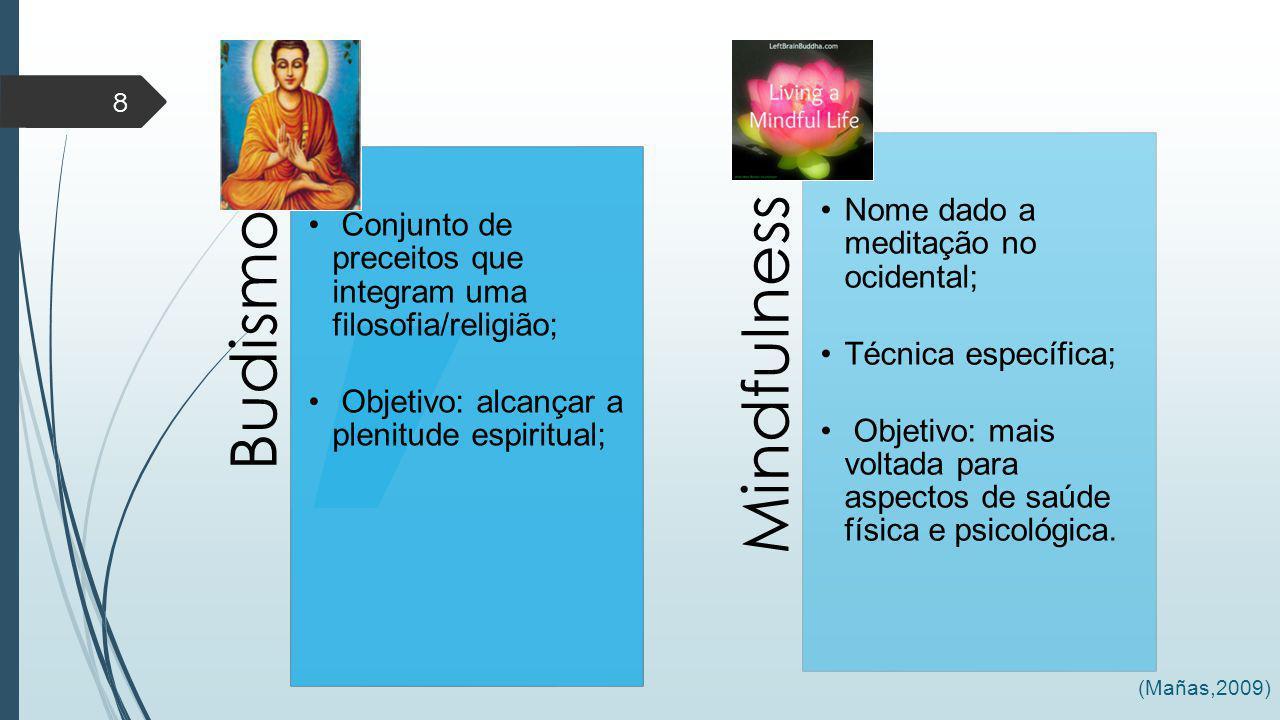 Budismo Conjunto de preceitos que integram uma filosofia/religião; Objetivo: alcançar a plenitude espiritual;