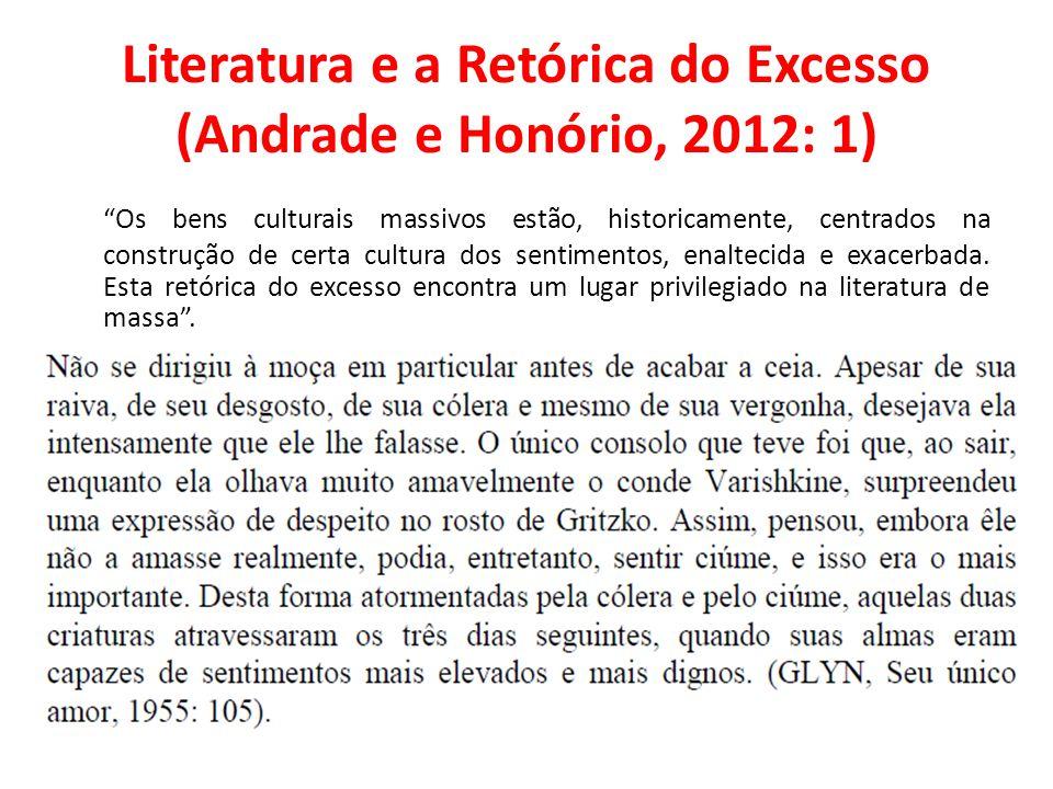 Literatura e a Retórica do Excesso (Andrade e Honório, 2012: 1)