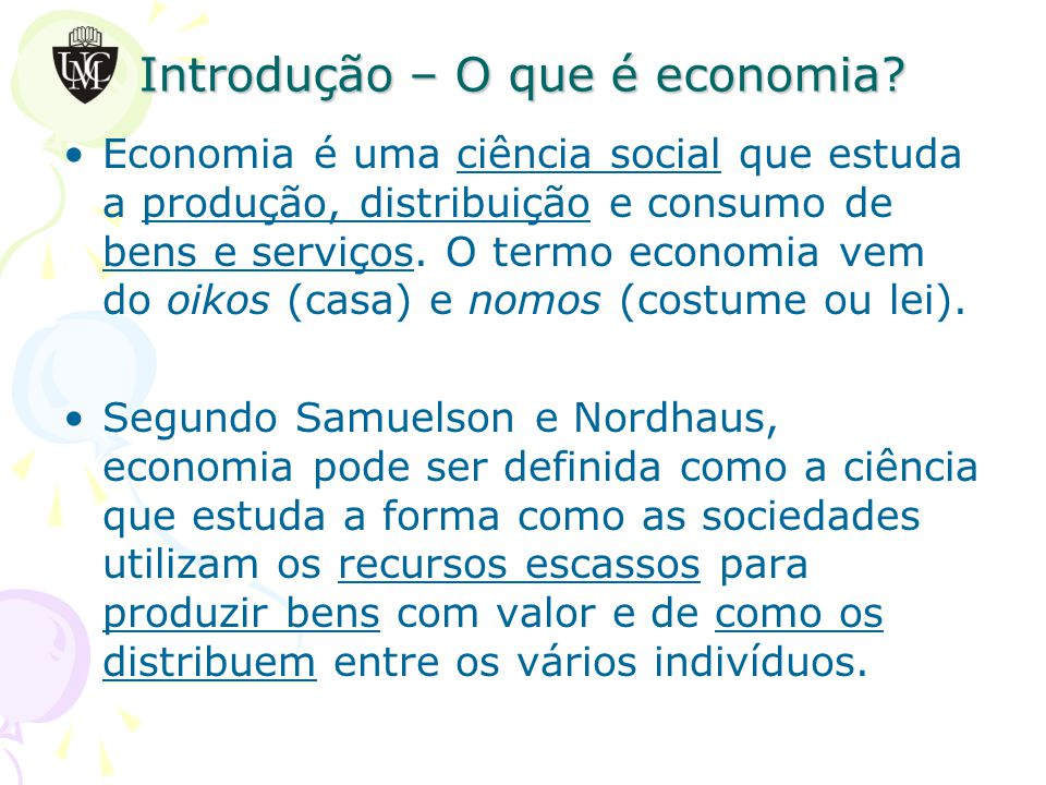 Introdução – O que é economia