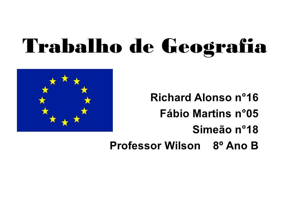 Trabalho de Geografia Richard Alonso n°16 Fábio Martins n°05