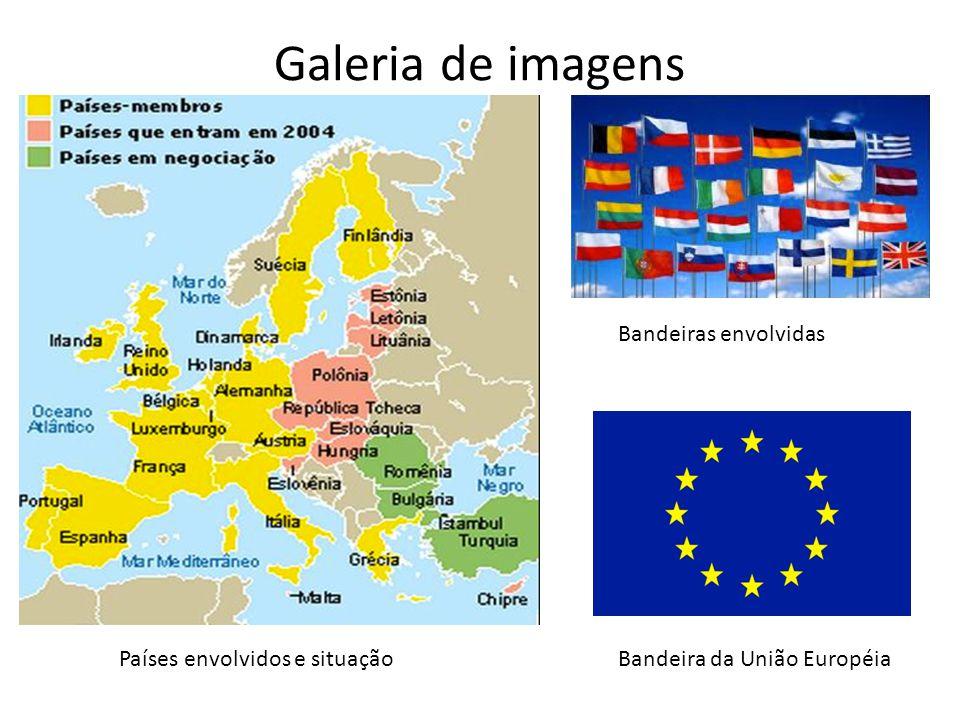 Galeria de imagens Bandeiras envolvidas Países envolvidos e situação