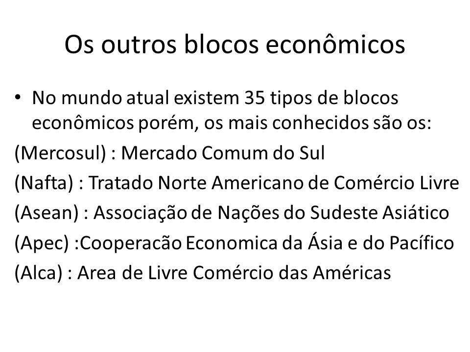 Os outros blocos econômicos