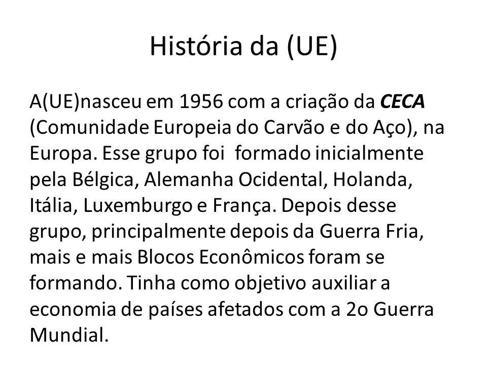História da (UE)