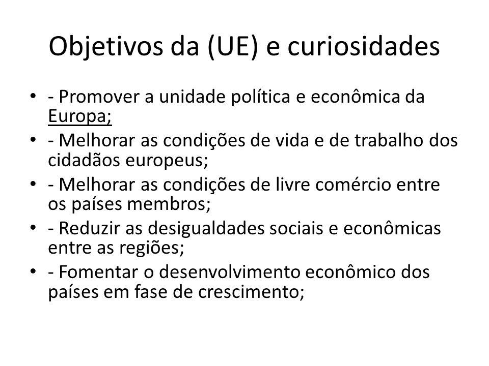 Objetivos da (UE) e curiosidades