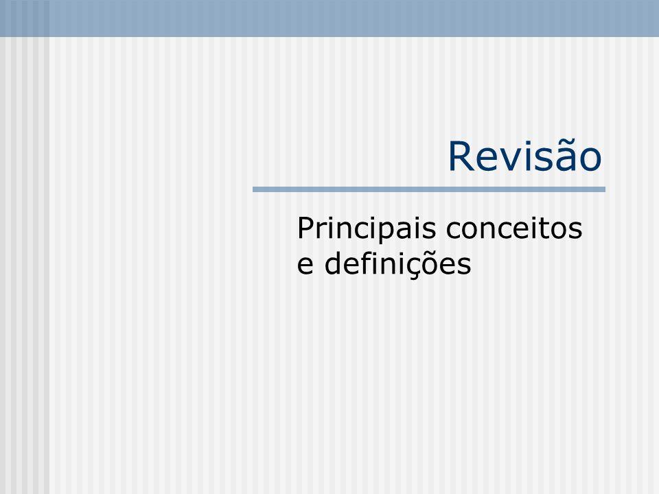 Principais conceitos e definições