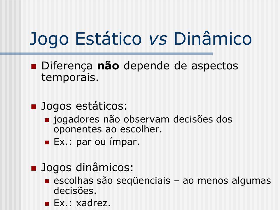 Jogo Estático vs Dinâmico