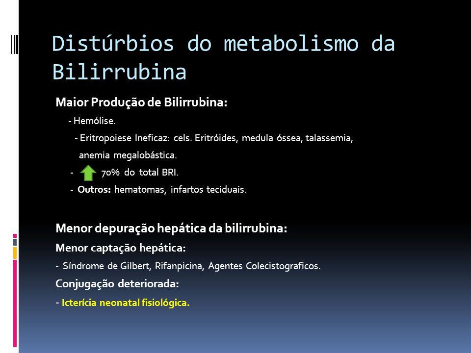 Distúrbios do metabolismo da Bilirrubina