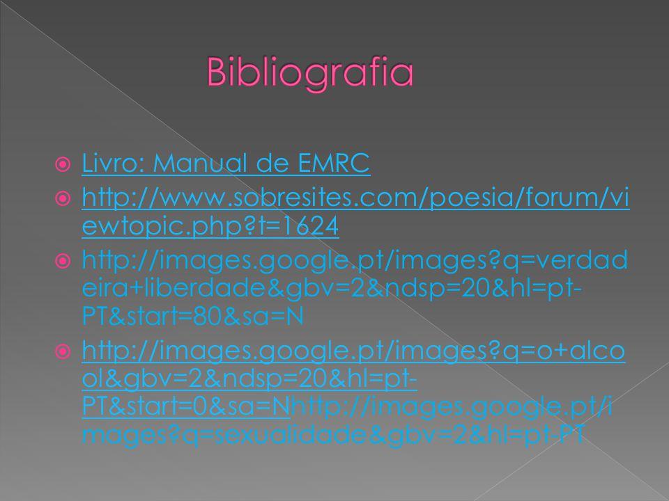 Bibliografia Livro: Manual de EMRC