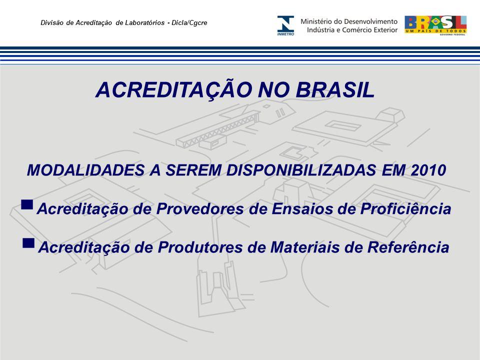 ACREDITAÇÃO NO BRASIL MODALIDADES A SEREM DISPONIBILIZADAS EM 2010