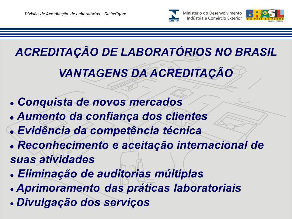 ACREDITAÇÃO DE LABORATÓRIOS NO BRASIL VANTAGENS DA ACREDITAÇÃO
