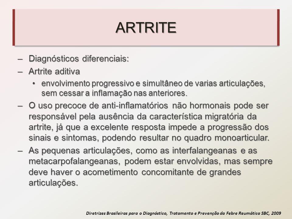 ARTRITE Diagnósticos diferenciais: Artrite aditiva
