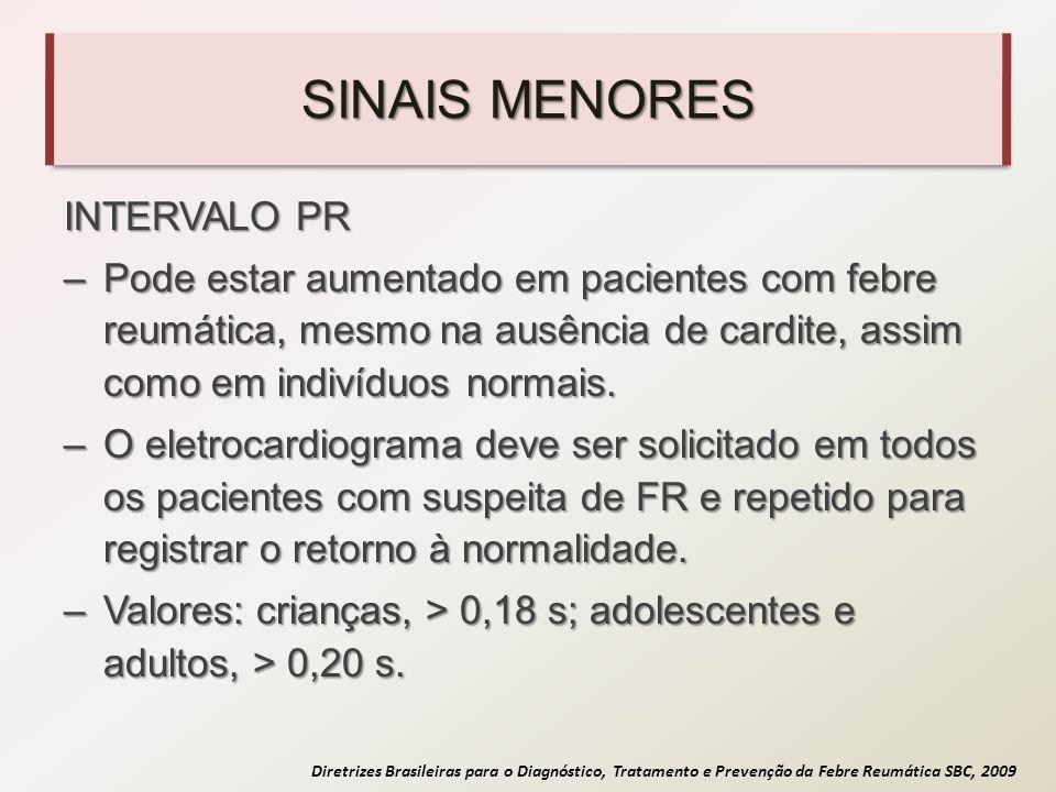 SINAIS MENORES INTERVALO PR